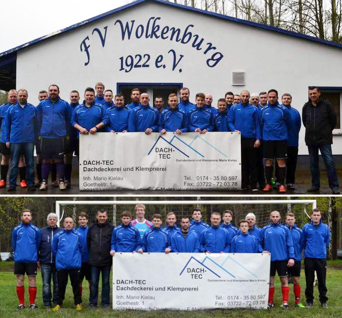 DACH-TEC sponsert FV Wolkenburg